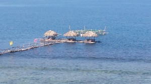 Floating Cottages at Cabangtalan Beach, Ilocos Sur, Philippines