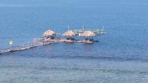 Floating Cottages at Cabangtalan Beach, Ilocos Sur, Philippines